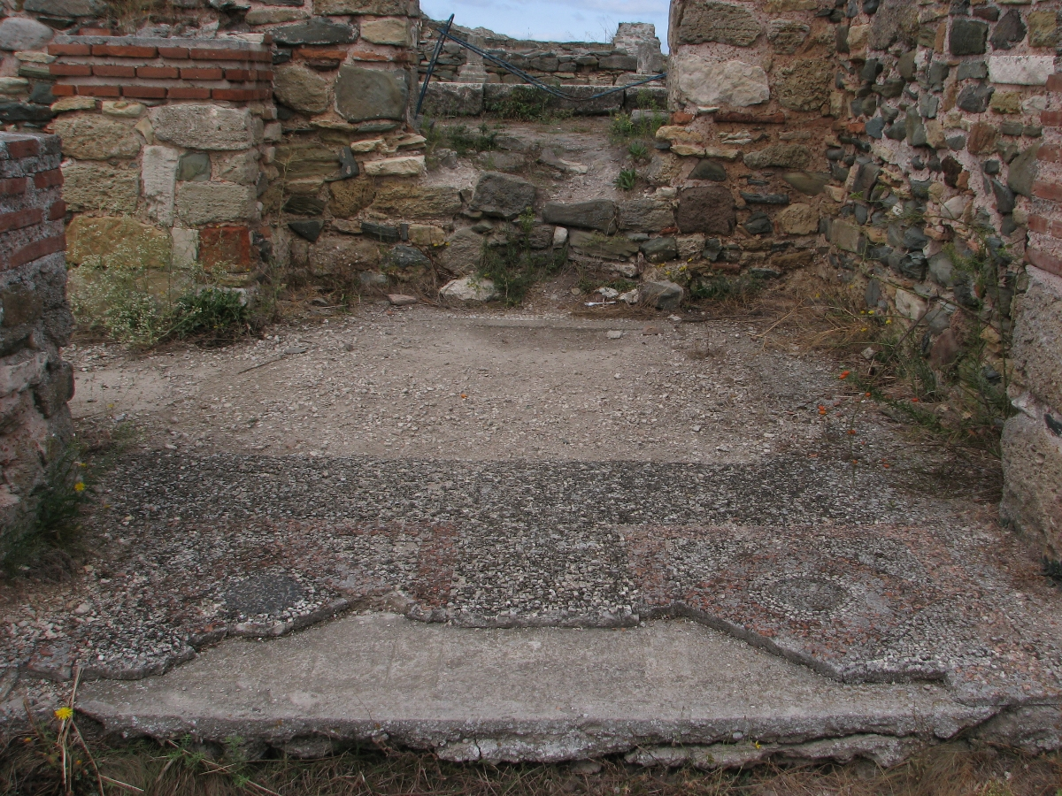 mosaic in ancient ruins Histria - Constanta county