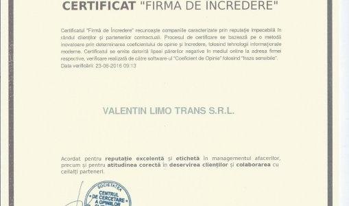 VLT firma incredere