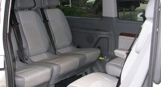 Mercedes Viano - textile & leather seats.