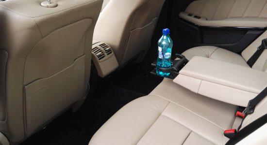 mercedes e class interior back, leather seats
