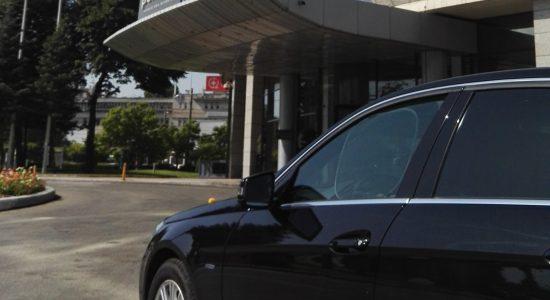 Mercedes E class business travel in Bucharest.