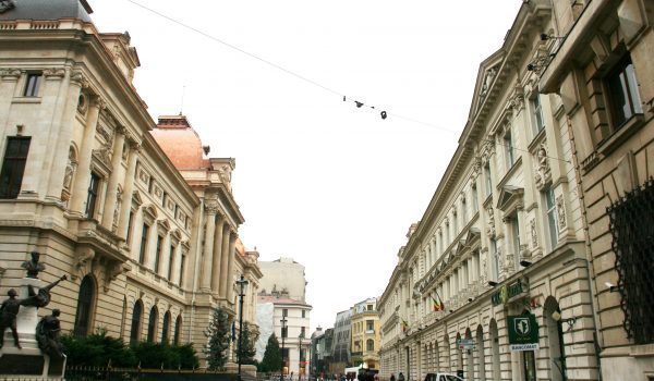 Lipscani street Bucharest Old City