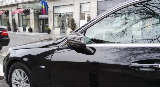 Mercedes E class hotel transfer airport to hotel  in Bucharest