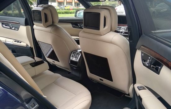 Mercedes S class interior back , leather seats